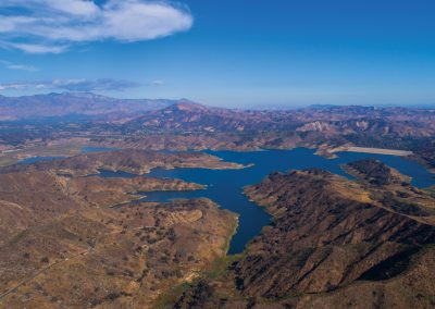 Aerial Ojai Lake Casitas by Logan Hall
