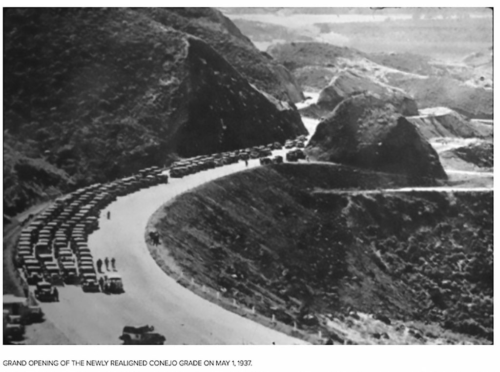 Grand Opening of the newly realigned Conejo Grade on May 1, 1937