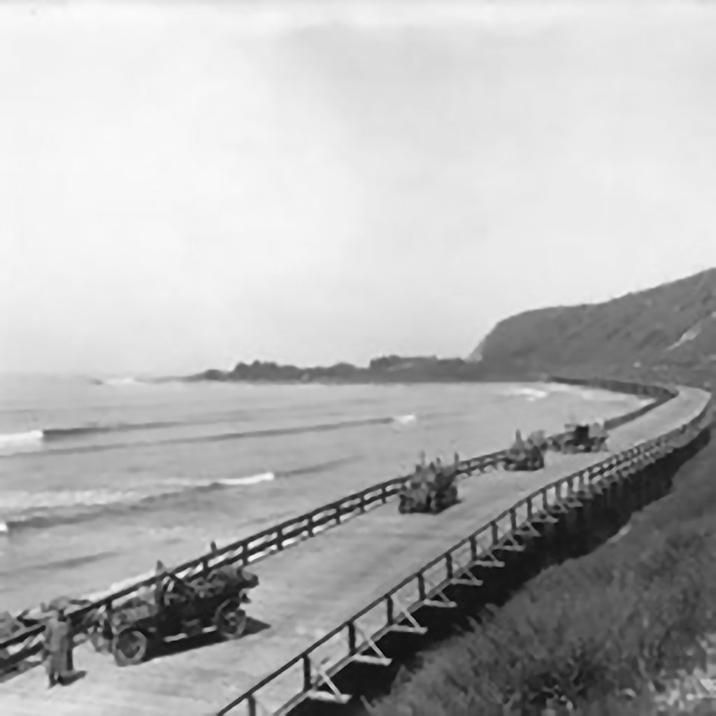 The 101 Highway between La Conchita and County Line
